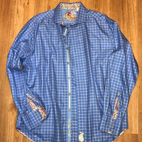 Robert Graham Mens Blush Long Sleeve Dress Shirt